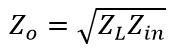Quarter Wave Formula