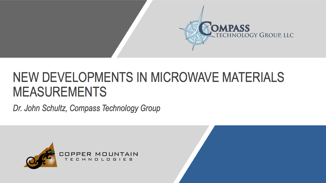 Microwave Materials Measurements Webinar