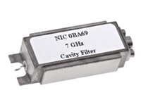 7 GHz Hermetically Sealed Surface Mount Cavity Filter Image