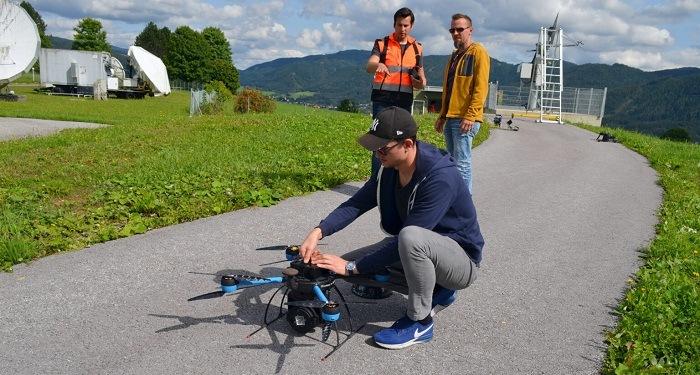 AFDroneAndrian 1 QuadSAT Demonstrates Drone Based Antenna Testing Capabilities for Satellite Operators