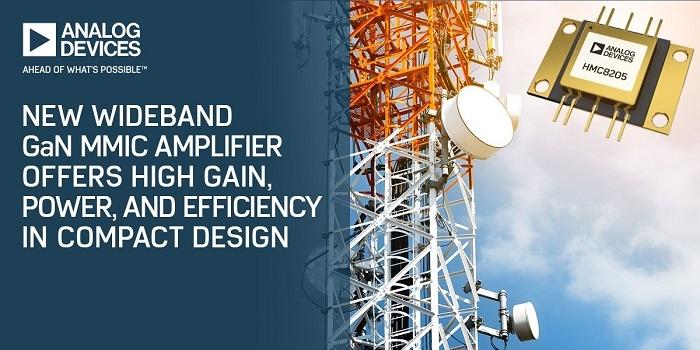Adi S New Wideband Gan Mmic Amplifier For Wireless