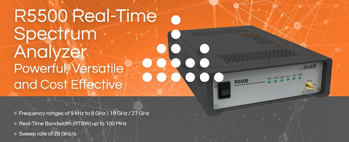 Real-Time Spectrum Analyzer from 9 kHz up to 27 GHz