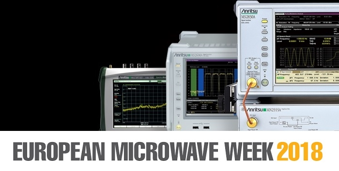 Anritsu to Showcase its Latest RF/Microwave T&M Solutions at EuMW 2018