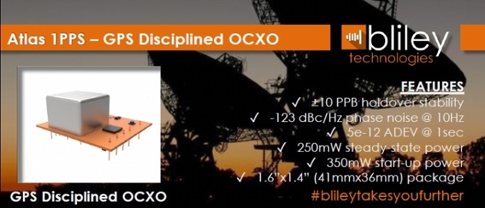 10 MHz GPS Disciplined OCXO Reduces Power and Cost While Maintaining