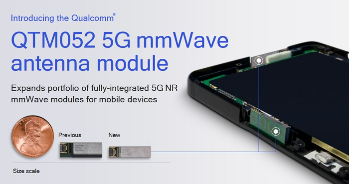 Qualcomm Unveils the Smallest 5G NR mmWave Antenna Module