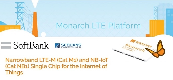 Sequans' Monarch LTE Chip Validated for use on SoftBank's Cat M1 in
