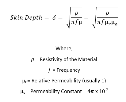 Everything Rf Has Created A Calculator Which Enables You To Easily Calculate Skin Depth For Particular Material At Frequency